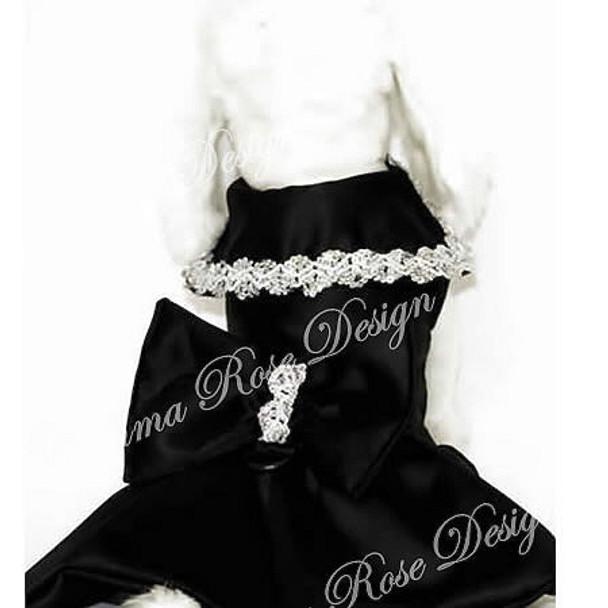 Black Glamour Designer Dog Dress
