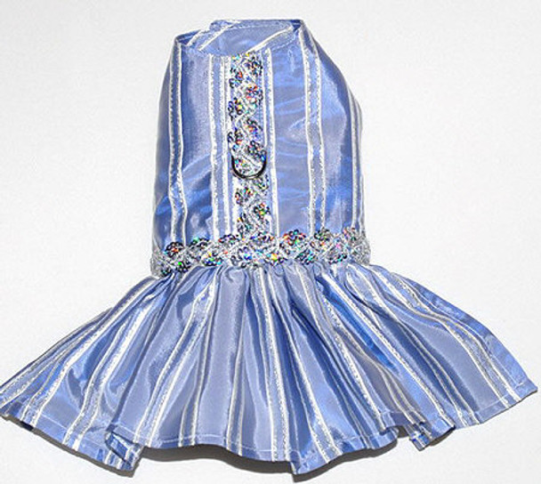 Party Girl Blue & Silver Dog Dress