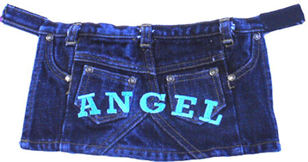 Denim ANGEL Dog Skirt