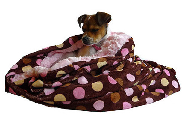 Snuggle Pup 3 'n 1 - Pink Multi Dots / Pink Curly
