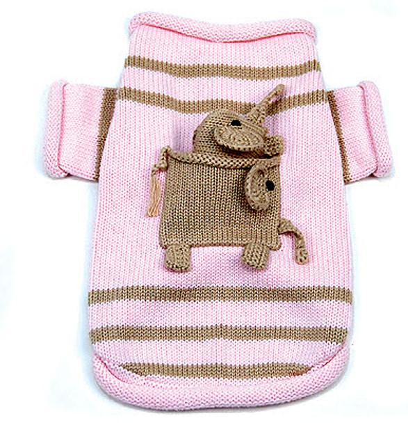 Pocket Full of Elephant Dog Sweater & Toy Set