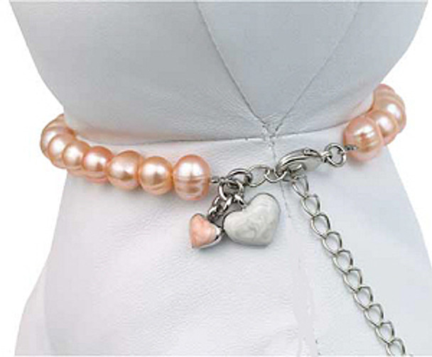 Pink Pearl Pet Dog Necklace