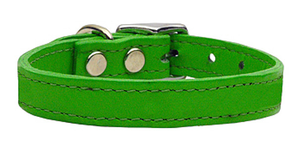 Emerald Green Leather Dog Collars