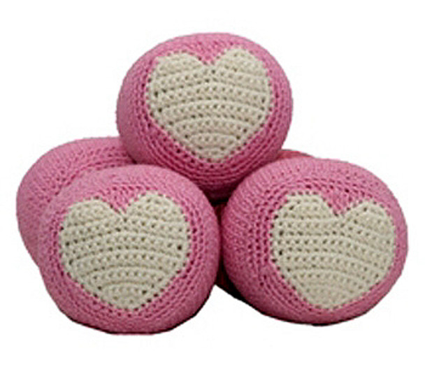 Pink Ball - The Original, Organic Cotton  Dental Toy