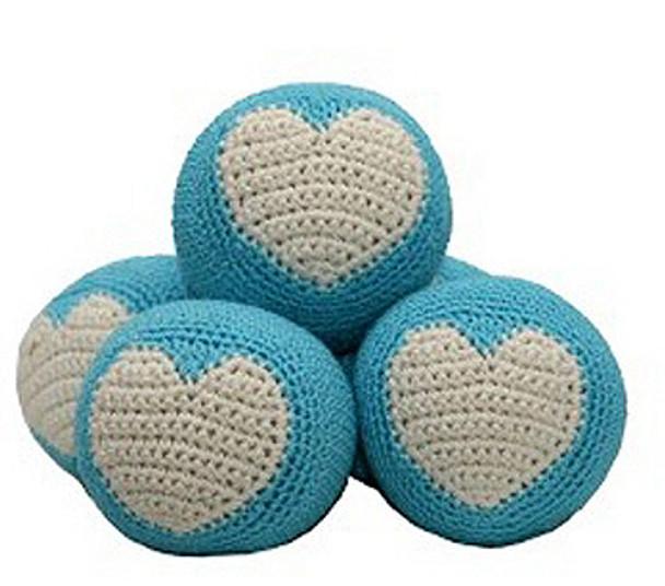 Blue Dog Ball - The Original Cotton  Dental Toy