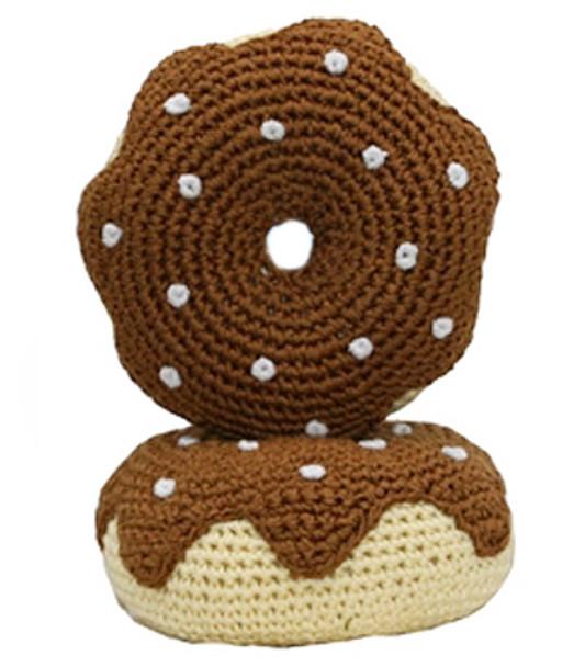 Chocolate Donut - The Original, Organic Cotton  Dental Dog Toy
