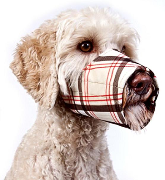 Fabric Dog Muzzle - Classic Plaid