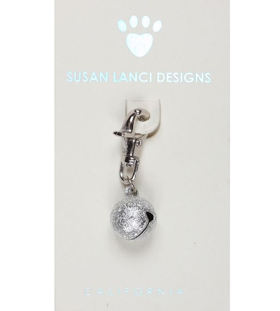 Dog or Kitty Cat Collar Bells - Sand Bell Silver