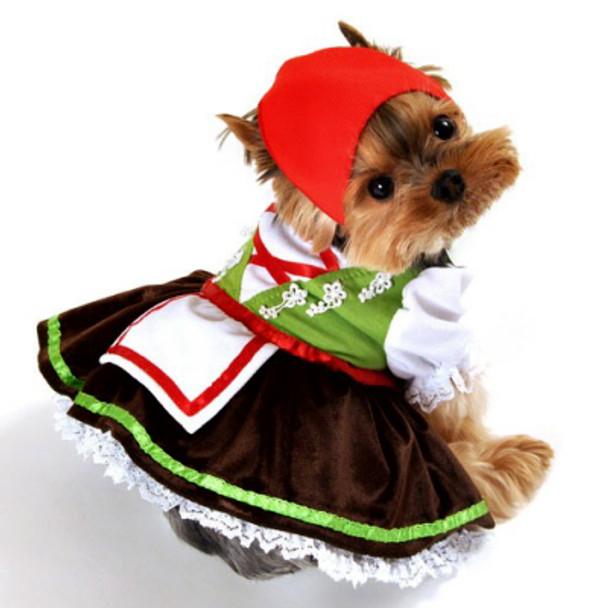 Alpine Girl Lederhosen Dog Costume