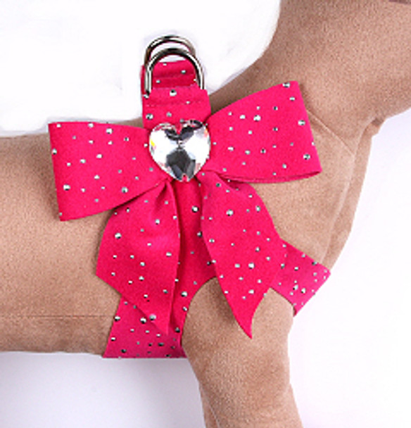 Susan Lanci - Raspberry Stardust Tail Bow Heart Step-In Harnesses