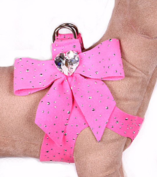 Susan Lanci - Perfect Pink Stardust Tail Bow Heart Step-In Harnesses
