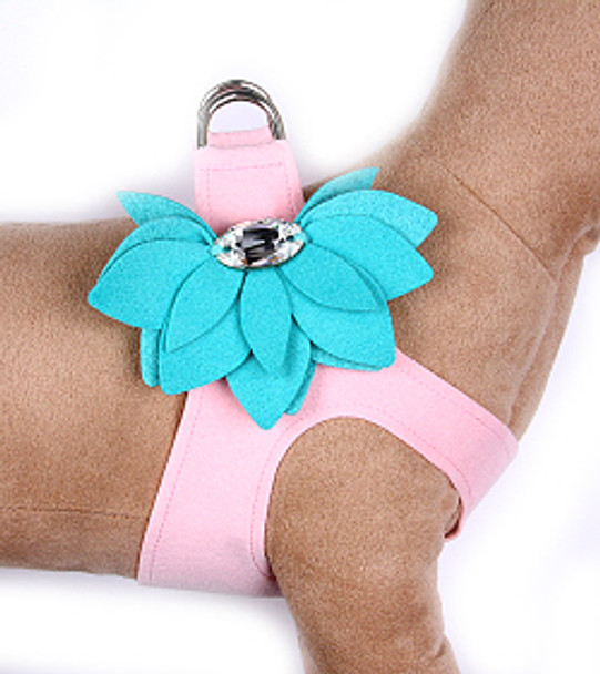 Puppy Pink / Bimni Blue Water Lily Step in Dog Harness