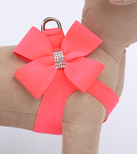 Electric Pink Nouveau Bow Step In Dog Harness
