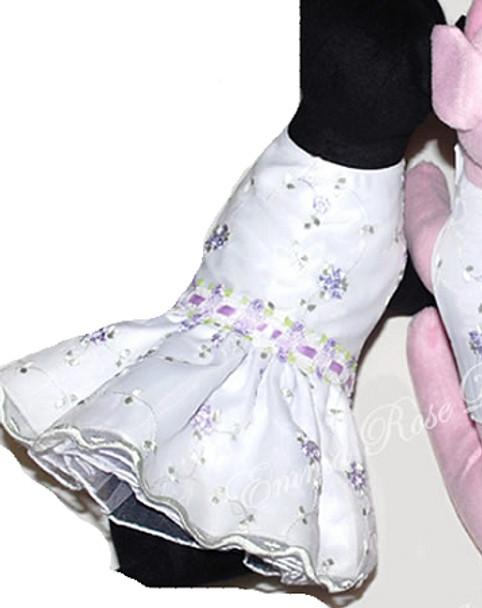 Lavender Rosebud Dog Dress