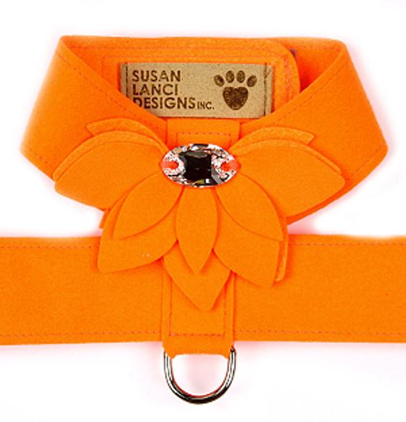 Electric Orange Water Lily Tinkie Dog Harness