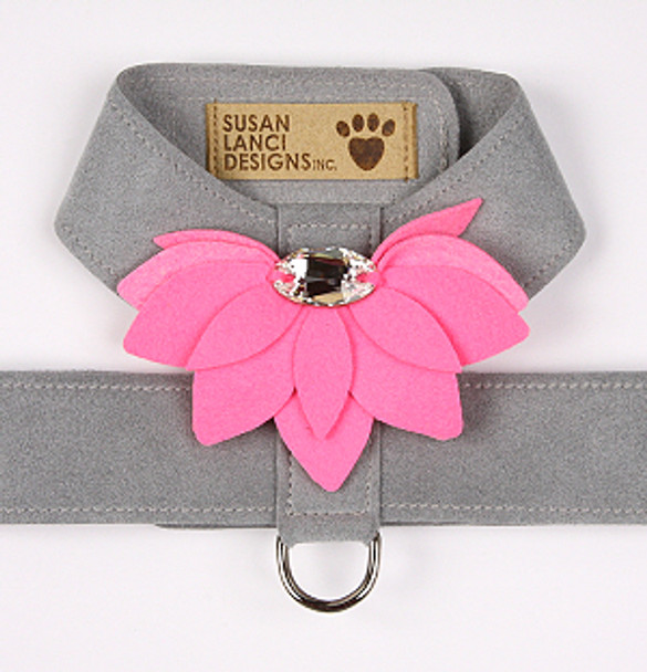 Platinum / Perfect Pink Water Lily Tinkie Dog Harness