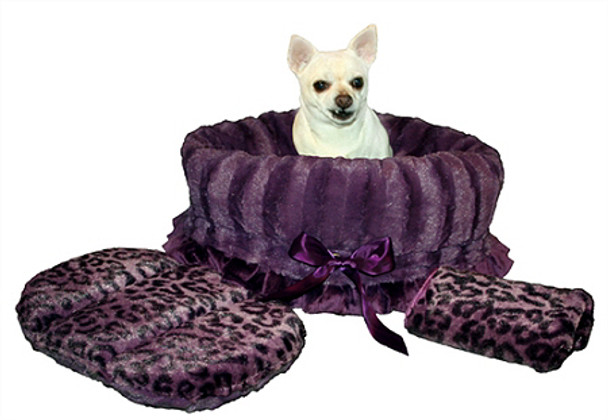 Purple Cheetah & Purple Reversible Dog Snuggle Bug by Pet Fly\'s