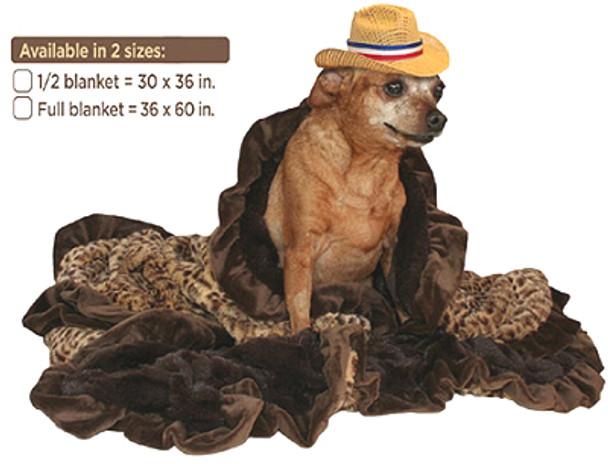 Sleepy Time Cuddle Dog Blanket - Cheetah (Baby) - 2 Sizes