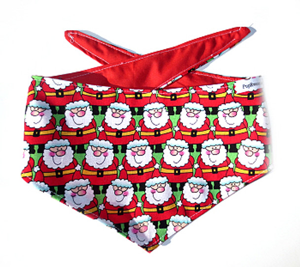Christmas Dog Bandana - Rows of Santas
