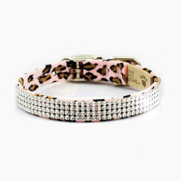 Cheetah Giltmore 4 Row Dog Collars