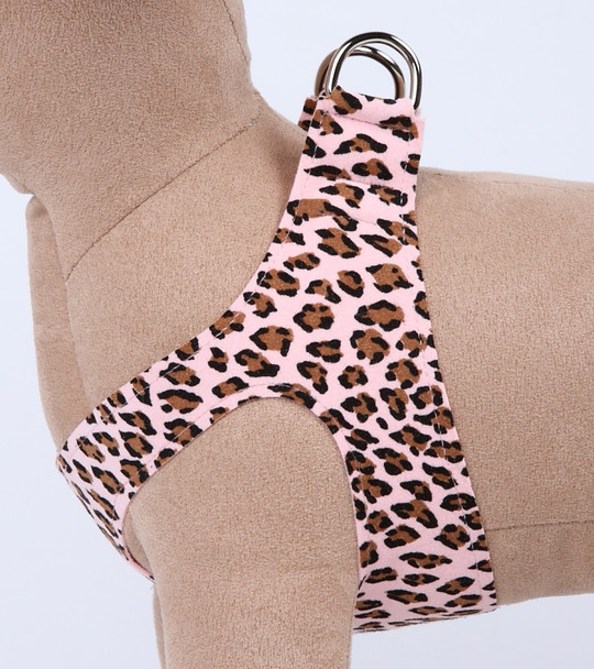 Pink Cheetah Couture Plain Step In Dog Harness by Susan Lanci