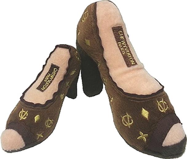 Chewy Vuiton Shoe Plush Dog Toy