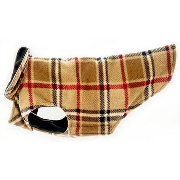 Scottish Plaid Camel Dog Coats -Size 18