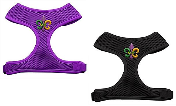 Mardi Gras Fleur de Lis Soft Mesh Dog Harnesses