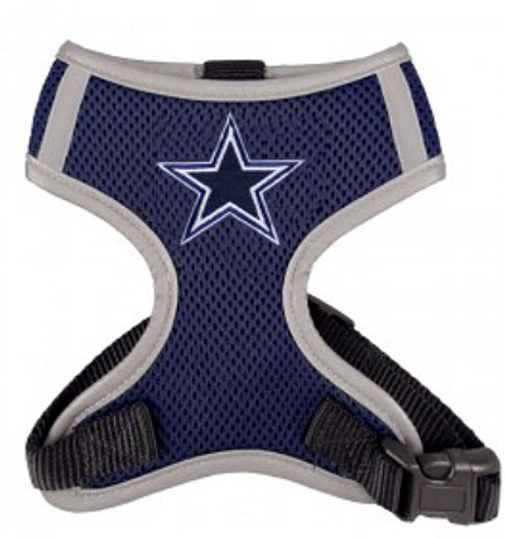 NFL Dallas Cowboys Dog Mesh Harness - Big Dog Sizes Too!