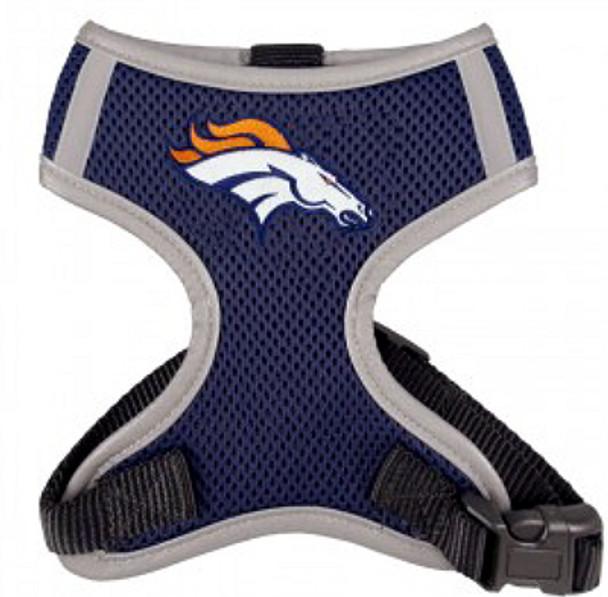 NFL Denver Broncos Dog Mesh Harness - Big Dog Sizes Too!