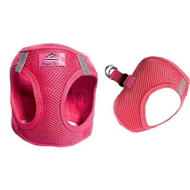 American River Choke Free Step In Dog Harness - Honeysuckle Pink