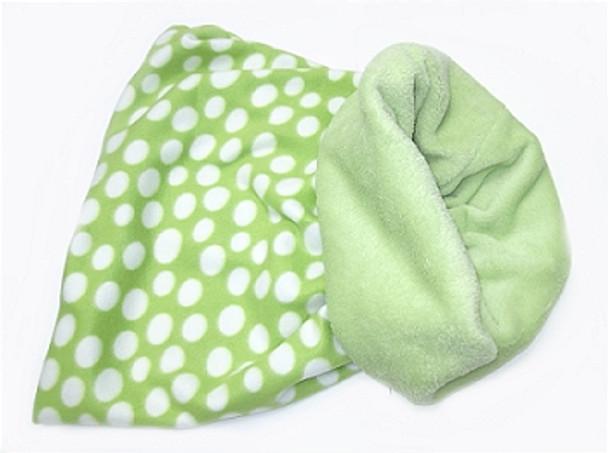 Snuggler Pet Dog Bed 3 'n 1 - Lime Green Polka Dot