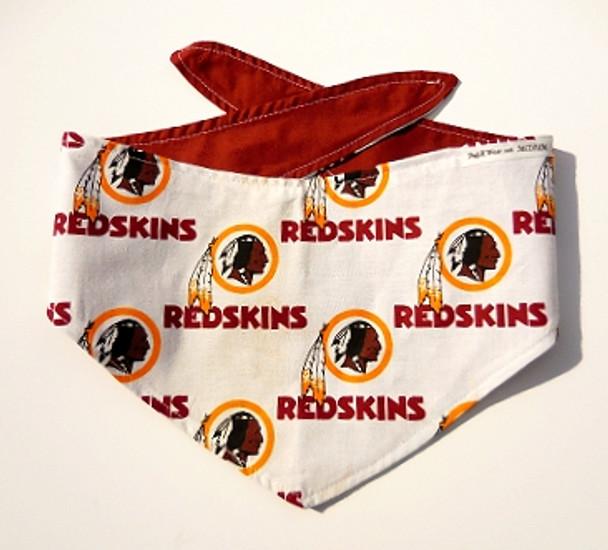 Handmade Washington Redskins Cotton NFL Dog Bandanas  97ee24d99