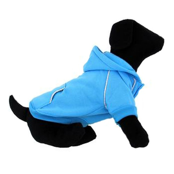Sport Dog Hoodie - Blue Curacao - Tiny - Big Dog Sizes