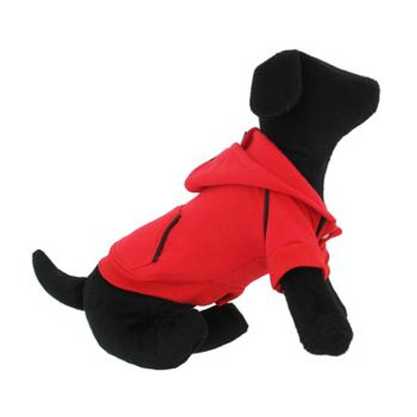 Sport Dog Hoodie - Flame Scarlett Red - Tiny - Big Dog Sizes