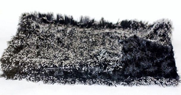 Black & White Puff Minkie Blanket / Mat - 4 Sizes Small - XLarge