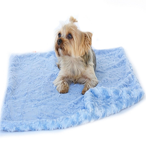Blue Paisley Minkie Blanket / Mat - 4 Sizes Small - XLarge