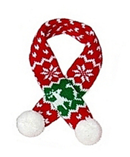Sassy Knitted Winter Pet Dog Scarf - Red Reindeer