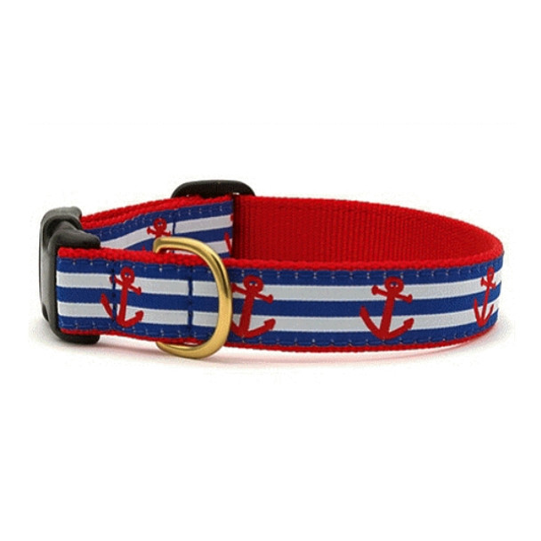Anchors Aweigh Dog Collars & optional leash