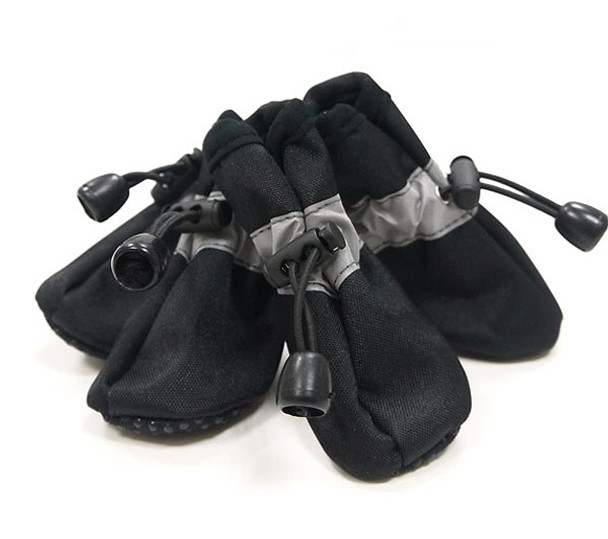 Solid Black Slip On Paws Dog Boots