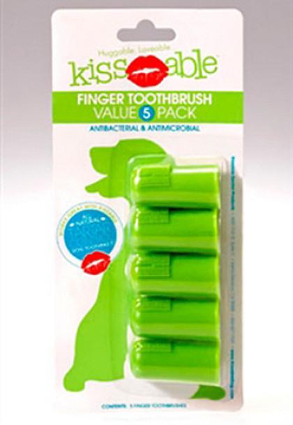 KissAble 5 Pack Pet Dog Finger Teeth Brushes