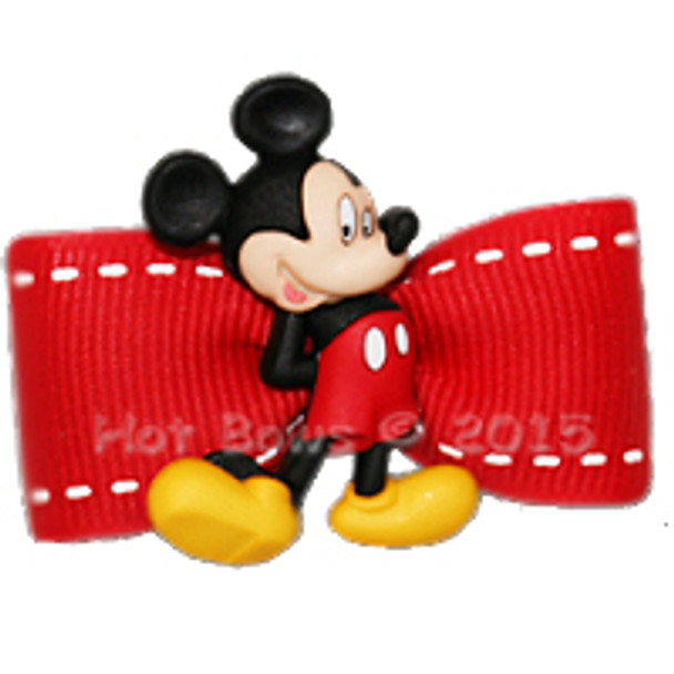 Dog Bow Barrette  - Classic Mickey