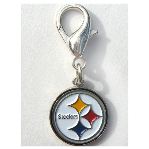 Pittsburgh Steelers Logo Dog Collar Charm