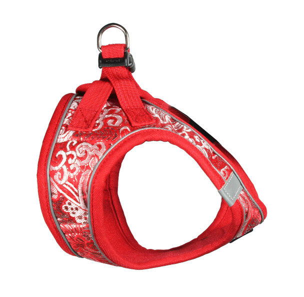EZ Reflective Royal Elegance Dog Harness Vest - Red