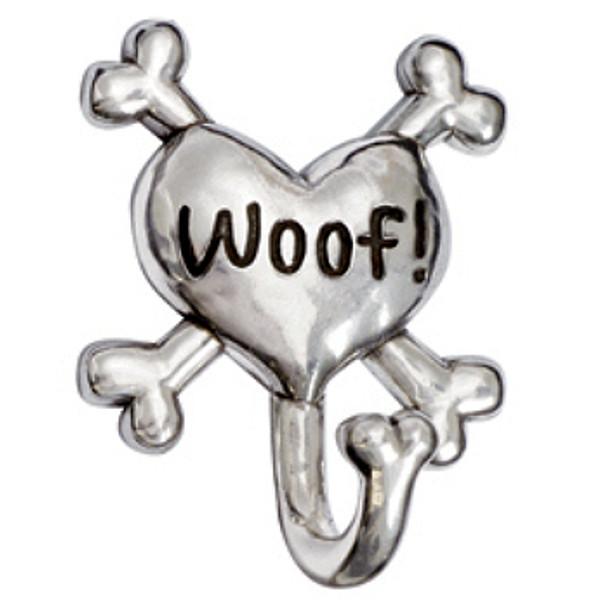 Pewter Heart Leash Hook - Woof