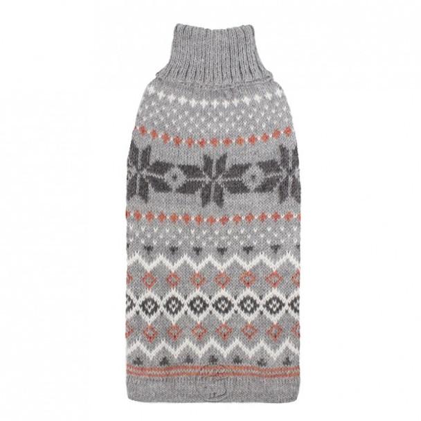 Alpaca Dog Sweater - Frozen Snowflake Grey