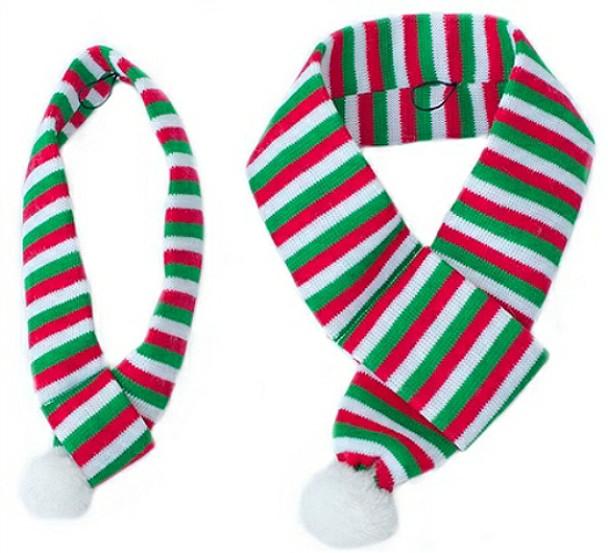 Pet Dog Christmas Holiday Striped Scarf