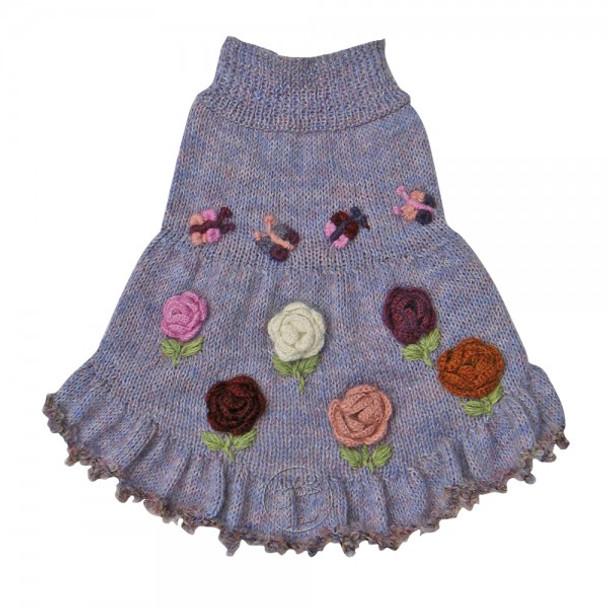 Alpaca Dog Sweater Dress - Forever Roses