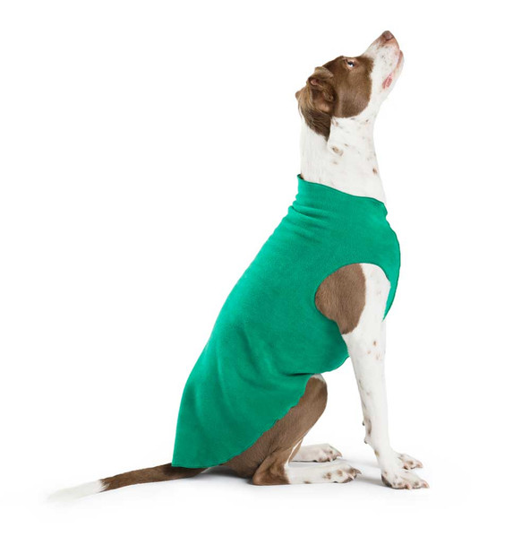 Gold Paw Stretch Fleece - Emerald Green