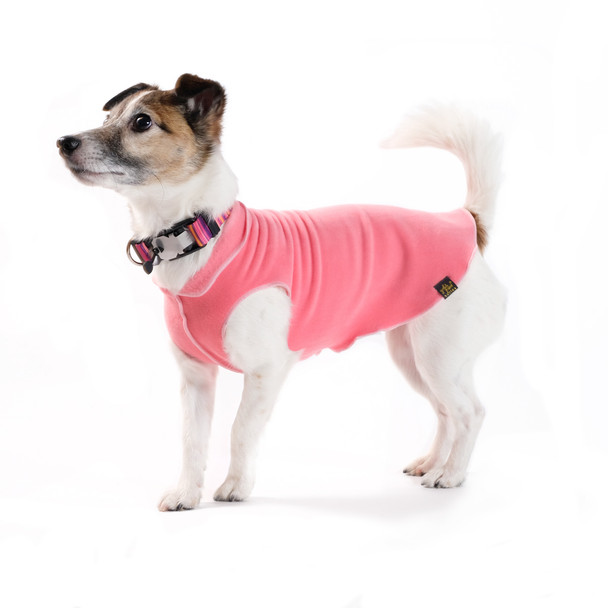 Gold Paw Stretch Fleece - Coral